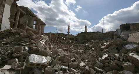 Syrie, maisons détruites